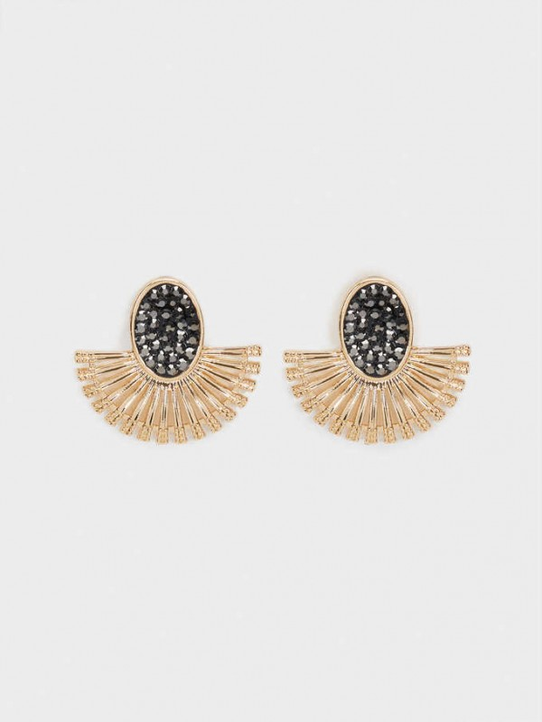 Small Earrings With Crystals