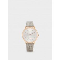Watch With Metallic Mesh Wristband 151812_SVU