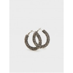 Medium Rhinestone Hoop Earrings 156083_SVU