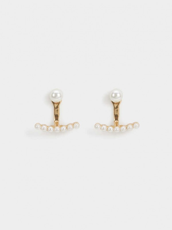 Short Faux Pearl Earrings