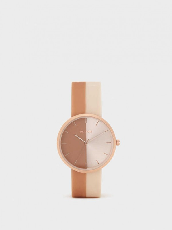 Watch With Two-Tone Strap
