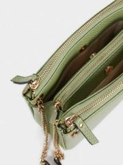 Acua Animal Embossed Crossbody Bag Малка чанта с три разпределения