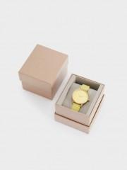 Watch With Matching Silicone Wristband Часовник с жълта силиконова каишка