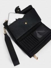 Basic1 Wallet Черен портфейл с отделение за телефон