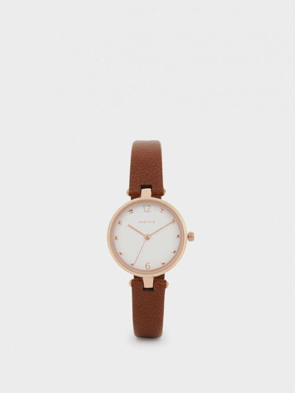 Rose Gold Metallic Watch