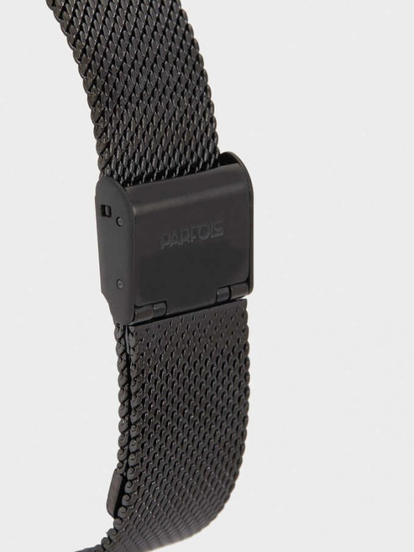 Watch With Stainless Steel Mesh Strap