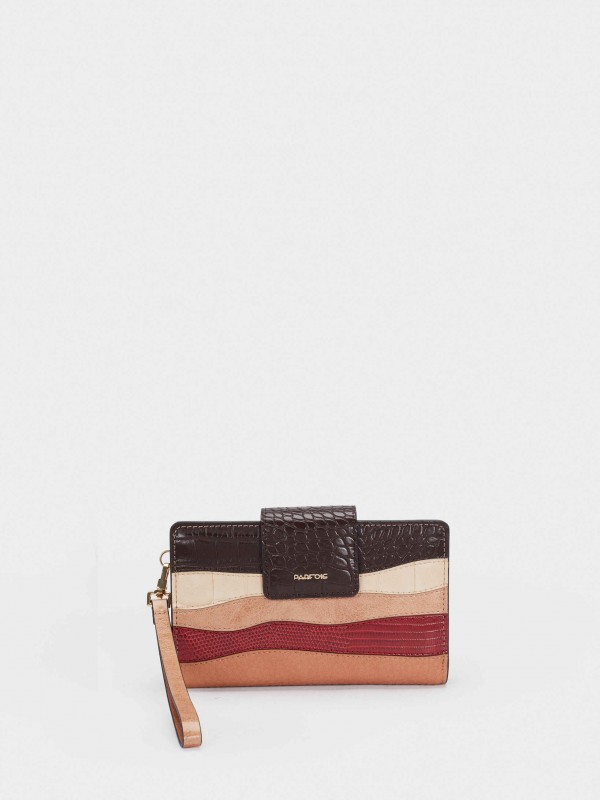 Multicoloured Striped Wallet