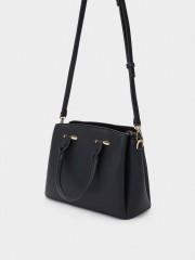 Megan Tote Bag Черна чанта с прегради