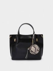 Mixie Tote Bag Черна чанта с дълга дръжка