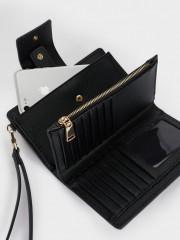 New Basic Wallet Черен портфейл с отделение за телефон