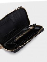 Zipped Purse Малък черен портфейл с цип