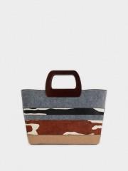 Milk Tote Bag Елегантна чанта с дълга дръжка