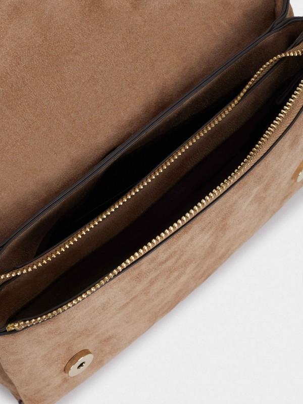 Milk Crossbody Bag With Patchwork Design