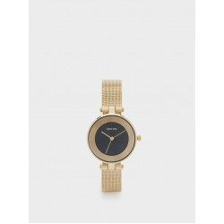 Watch With Metal Mesh Strap And Contrasting Face 180927_GDU