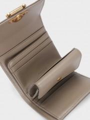 Catan Small Wallet Компактен портфейл в сиво