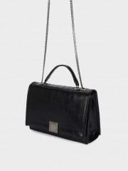 Sophie2 Crossbody Bag Черна чанта с метална дръжка