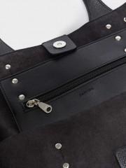 Motard Shoper Bag Черна чанта с метални елементи