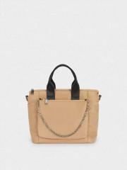 Bart Tote Bag Текстилна чанта с дълга дръжка и аксесоар