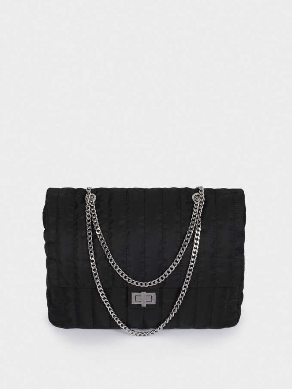 Quilted Nylon Crossbody Bag