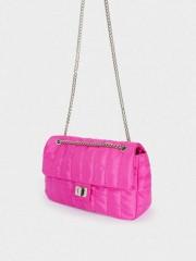 Chuck Small Crossbody Bag Малка текстилна чанта в електриково розово