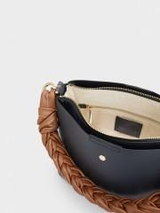 Lacey Shoulder Bag Тъмно синя чанта с дръжка за рамо