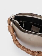 Lacey Shoulder Bag Златиста чанта с два вида дръжки