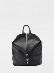 Leather Backpack Черна раница от естествена кожа
