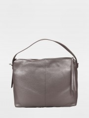 Leather Handbag Кожена чанта в сив цвят