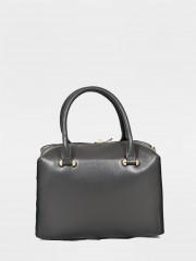 Amy Leather Bag Кожена чанта в сив цвят