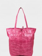 Lily Croc Leather Bag