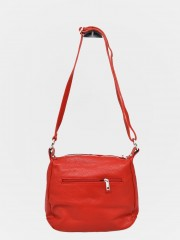 Kristy Leather bag Червена кожена чанта среден размер