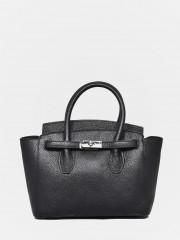Leather Handbag Черна кожена чанта среден размер