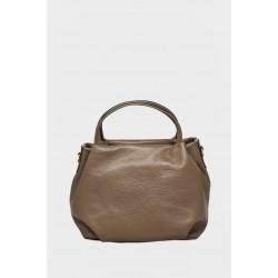 Tanya Leather Handbag H104TAUPE