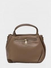 Tanya Leather Handbag Кожена чанта в бежов цвят