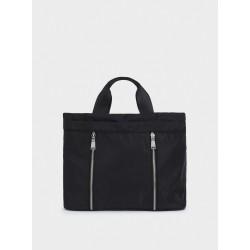 Nylon Tote Bag 175202_BKM