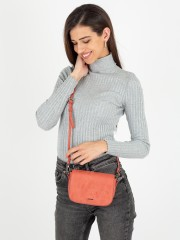Textured Faux Suede Crossbody Bag With Removable Strap Малка чанта с дълга дръжка